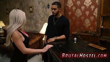 Bondage gangbang cage Big-breasted platinum-blonde bombshell Cristi