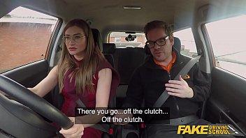 Fake Driving School Sexy Russian teacher creampied