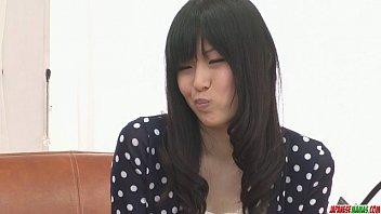 Nozomi Koizumi strips naked and gives an asian blowjob