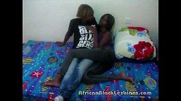 2 Hot African beauties Alexis and Jasmine wild in homemade sex video