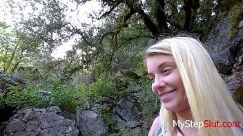 doing my teen daughter in the woods