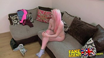 FakeAgentUK Squirting casting girl back for more porn action