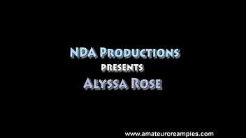 Alyssa Rose in Amateur Creampies