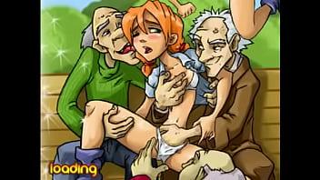 Young girl gang banged by 3 old men outdoor young cartoon bang