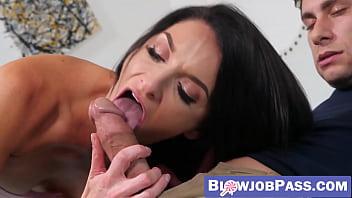 Gorgeous MILF Silvia Saige POV blowing stepson cock