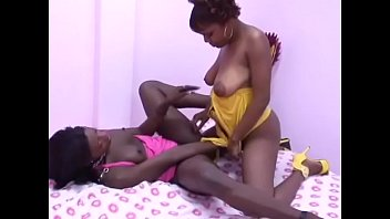 Two stunning non european lesbos are licking and touching each other