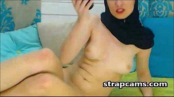Good Looking Arab Teen Toying