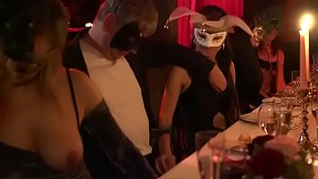 A masked dinner party