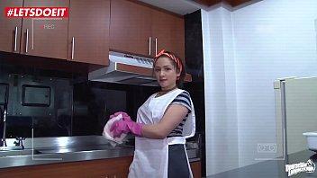 LETSDOEIT - Horny Stud Gets Hard Over His Latina Maid