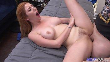 MILF Trip - Sexy redheaded MILF gets her hairy pussy slammed