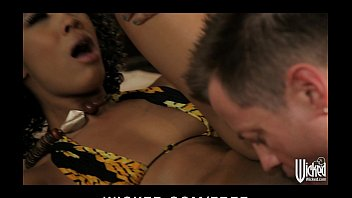 Horny Ebony beauty is stripped down eaten out and fucked hard
