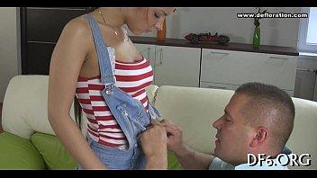 Juvenile virgin undressing