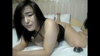 Asian slut teasing nice body on cam