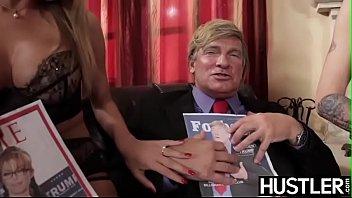 Lascivious Natasha Starr receives president cock in 3way