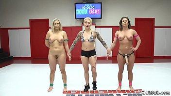 Wrestler anal fucks tied up opponent