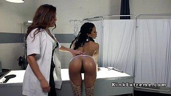 Lezdom scientist anal fucks lesbian kinky lezdom ass-fuck