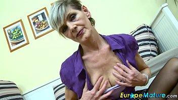 EuropeMaturE Sexy Granny Ivana Solo Fingering   Video Make Love