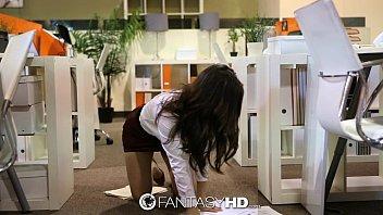 HD FantasyHD - Naughty secretary Lily Carter fucks in the office