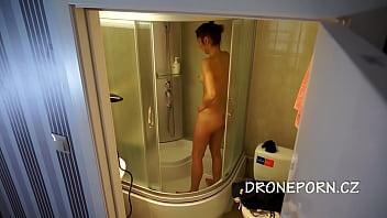 Czech teen in the shower