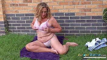 EuropeMaturE Camilla Creampie Solo Self Stroking