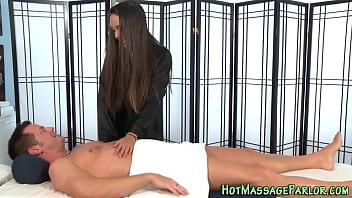 Massaging honey cumshot