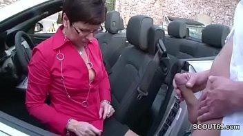 German MILF in Stockings Seduce to Fuck Outdoor