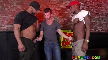 Brenden shaw tries interracial sex with two dark men
