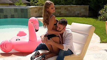 Bikini teen Tiffany Tatum gets her sweet wet pink fucked hard by the pool