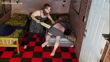 Wife spank husband