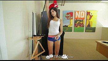 4K Tiny4K - Petite latina Ava Taylor is fucked hard by big cock