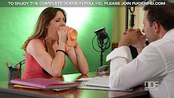 Britsh bad girl Samantha Bentley gets stuffed hard in a casting
