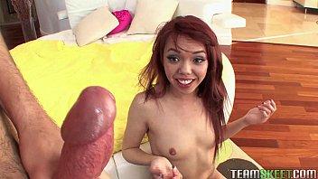 Teamskeet Petite tattooed Asian teen Zenya Lai big cock sex