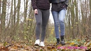 Lesbea Gorgeous European teens passionate lesbian love making