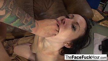 Jennifer White gets face fucked hard