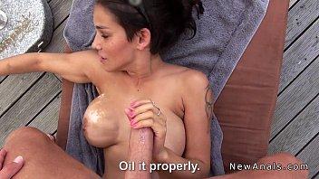Massive tits amateur anal banged outdoor Thumb