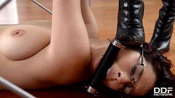 Domina Anissa Kate spanks Zenda Sexy and pinches her hard nipples