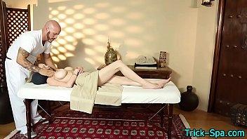 Hot blondes tits massaged