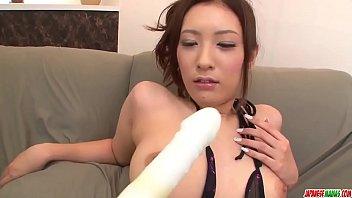Yui Kasuga amazes with her cock sucking skills - More at Japanesemamas com