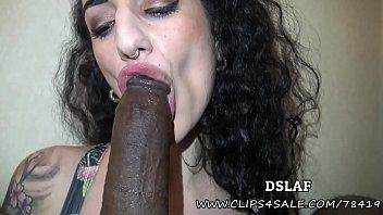 French Superhead Arabelle Raphael Interracial Sloppy Head With Facial- DSLAF