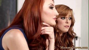 Redhead stepmom licking teens pussy