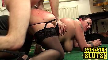 Anally slammed mature slut choked and slapped by master