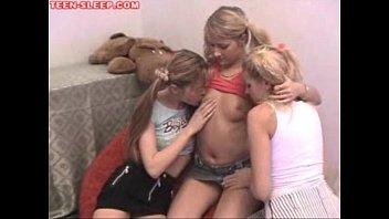 Three Teen Lesbians Party