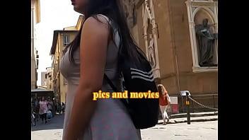 Candid camera huge boobs girl