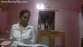 Indian School Teacher Seducing Her Student Showing Her Big Juicy Boobs