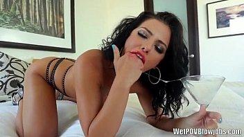 Adriana Chechik gives amazing sloppy head