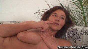 Grandma enjoys two young cocks wife reality grandma