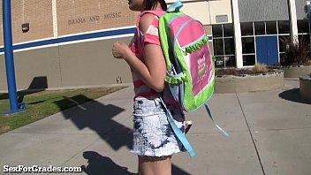Hot Emo Teen Hooks Up With Her Teacher!