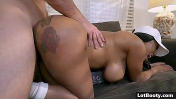 Big ass ebony huge tits babe interracial doggystyle fucked