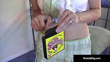 Big Breasted Cougar Shanda Fay Gets a Mega Hot Load of Cum!