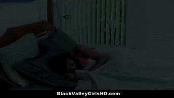 Beautiful Ebony Teen Babe Sizi Sev Banged By Stepbro'_s Big White Cock